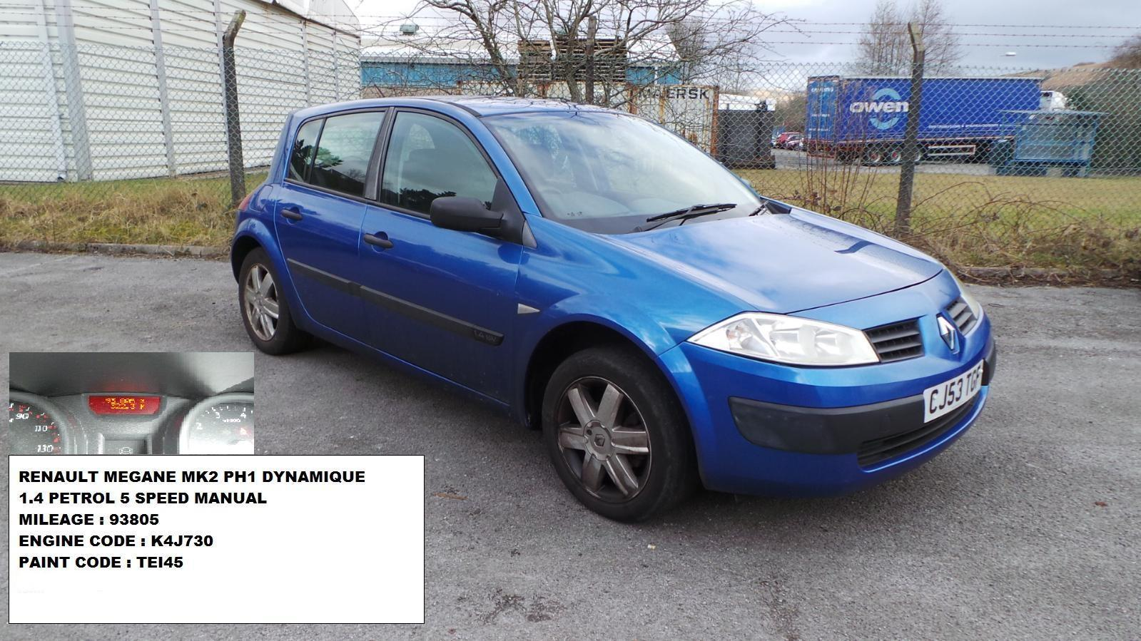 2003 renault megane mk2 hatchback blue rear bumper ebay. Black Bedroom Furniture Sets. Home Design Ideas