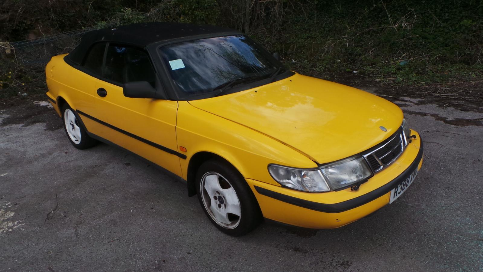 1997 saab 900 convertible yellow rear bumper paint code. Black Bedroom Furniture Sets. Home Design Ideas