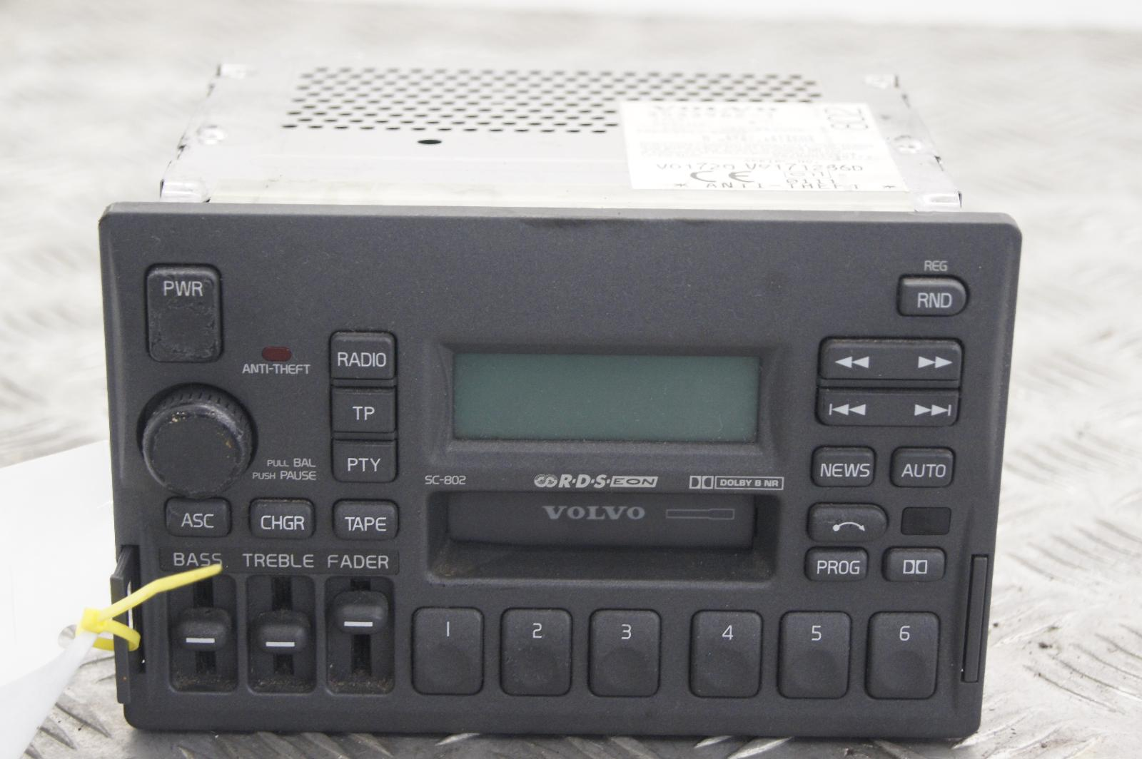 1998 volvo v70 sc 802 radio cassette player 3533962 1 ebay. Black Bedroom Furniture Sets. Home Design Ideas