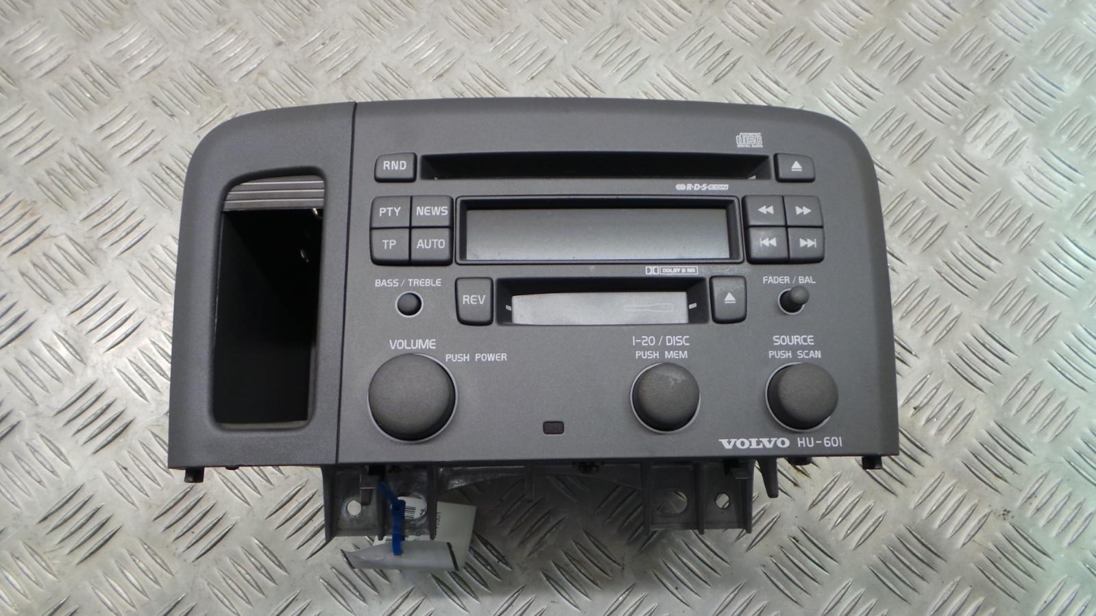 2000 volvo s80 radio cassette cd player model hu 601. Black Bedroom Furniture Sets. Home Design Ideas