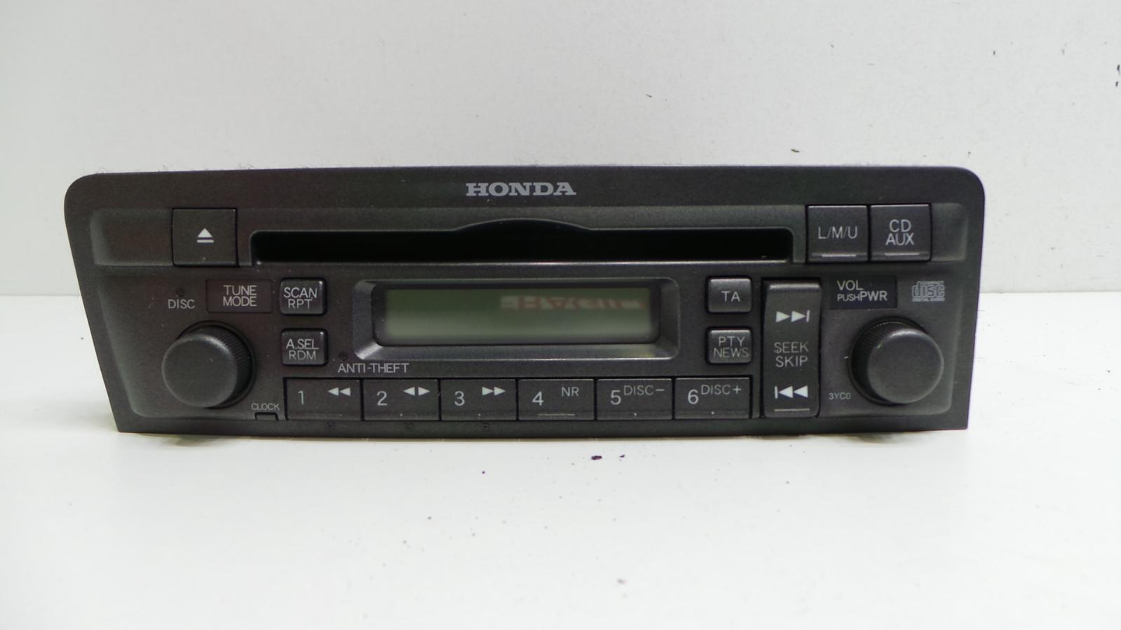 2002 honda civic mk7 genuine cd player radio stereo 39101. Black Bedroom Furniture Sets. Home Design Ideas